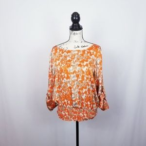 Michael kors Womens orange Beige Blouse. Large